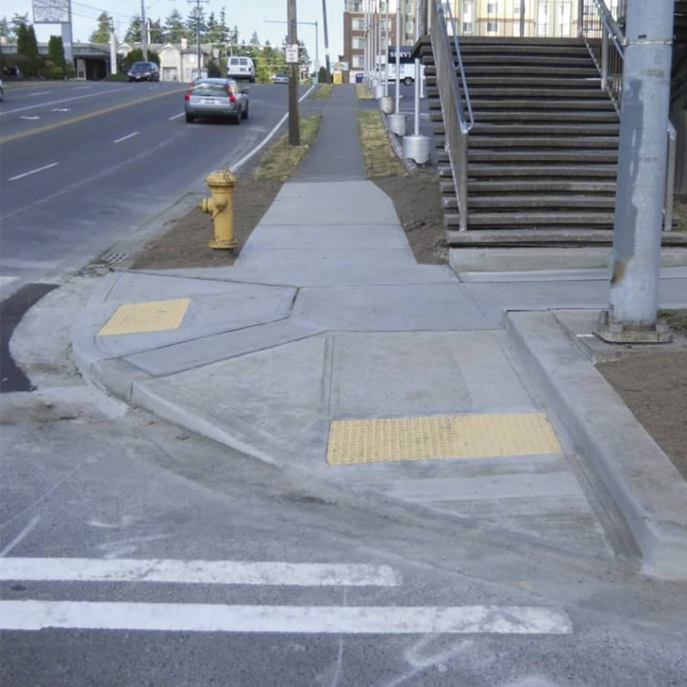 city ADA ramp concrete